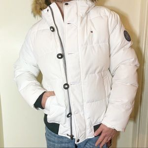 New Tommy Hilfiger White Puffer Coat
